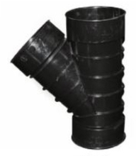 "ADS 422AA Pipe 4"" Single Wall 45° Accessory from Carter-Waters"