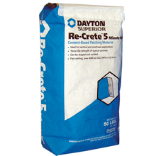 DAY 67300 Dayton Gray Recrete 5-min Concrete Repair 50lb Bag from Carter-Wa