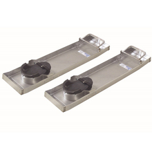 "KRA CC150 Kraft 31"" x 8"" Stainless Steel Kneeboard (Pair) from Carter-Water"