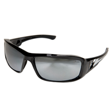 WOL XB117 Edge Brazequ Black/Silver Mirror Lens Safety Glasses from Carter-